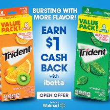 $1 Ibotta Cash Back When You Buy Trident at Walmart + a Giveaway!