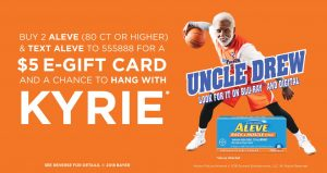 Aleve Offer at Walmart — $5 Gift Card + a Giveaway!