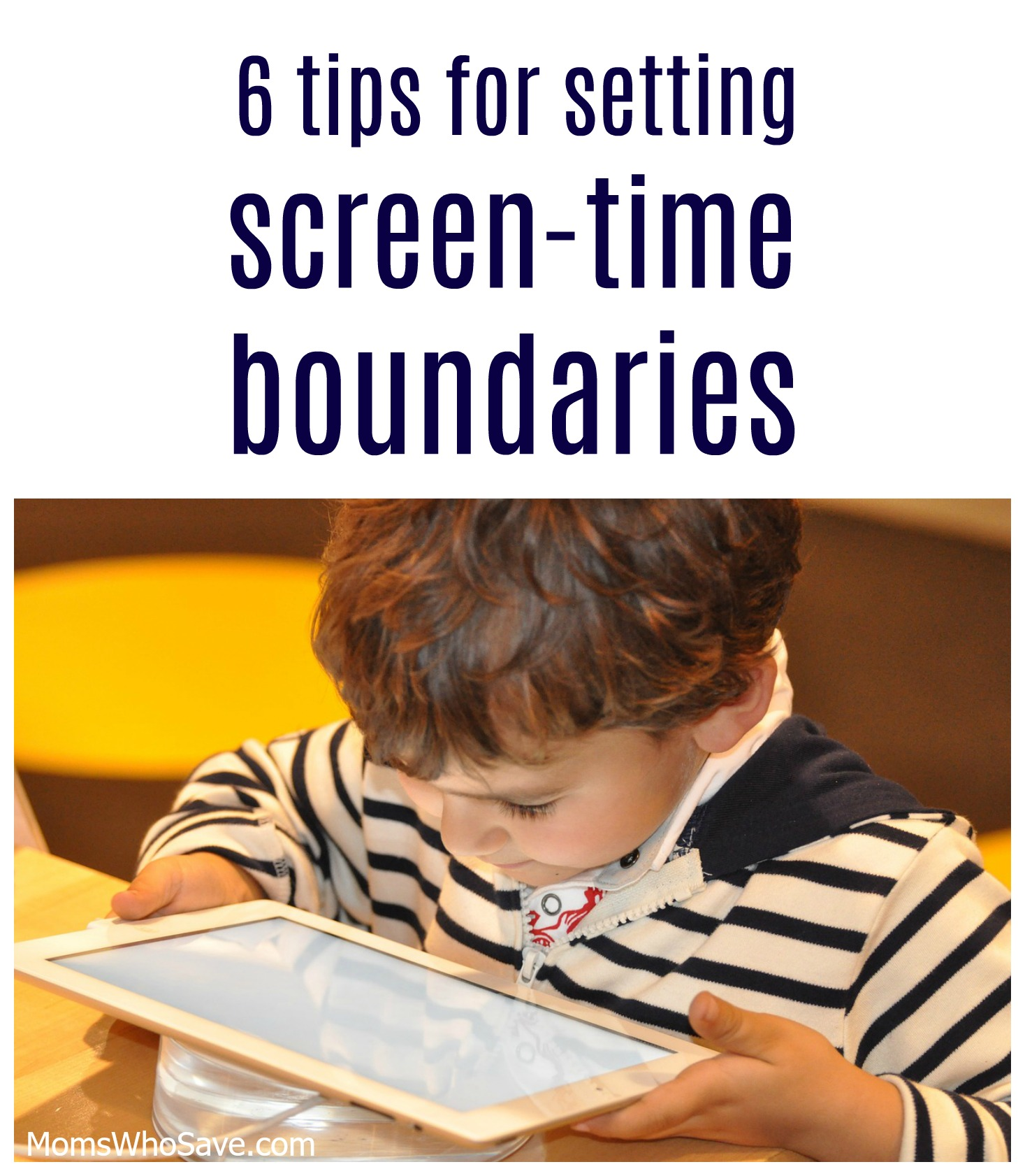 setting screen time boundaries