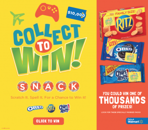 Pick up Your Favorite Snacks at Walmart & Enter to Win a $10,000 Gift Card or Other Great Prizes!