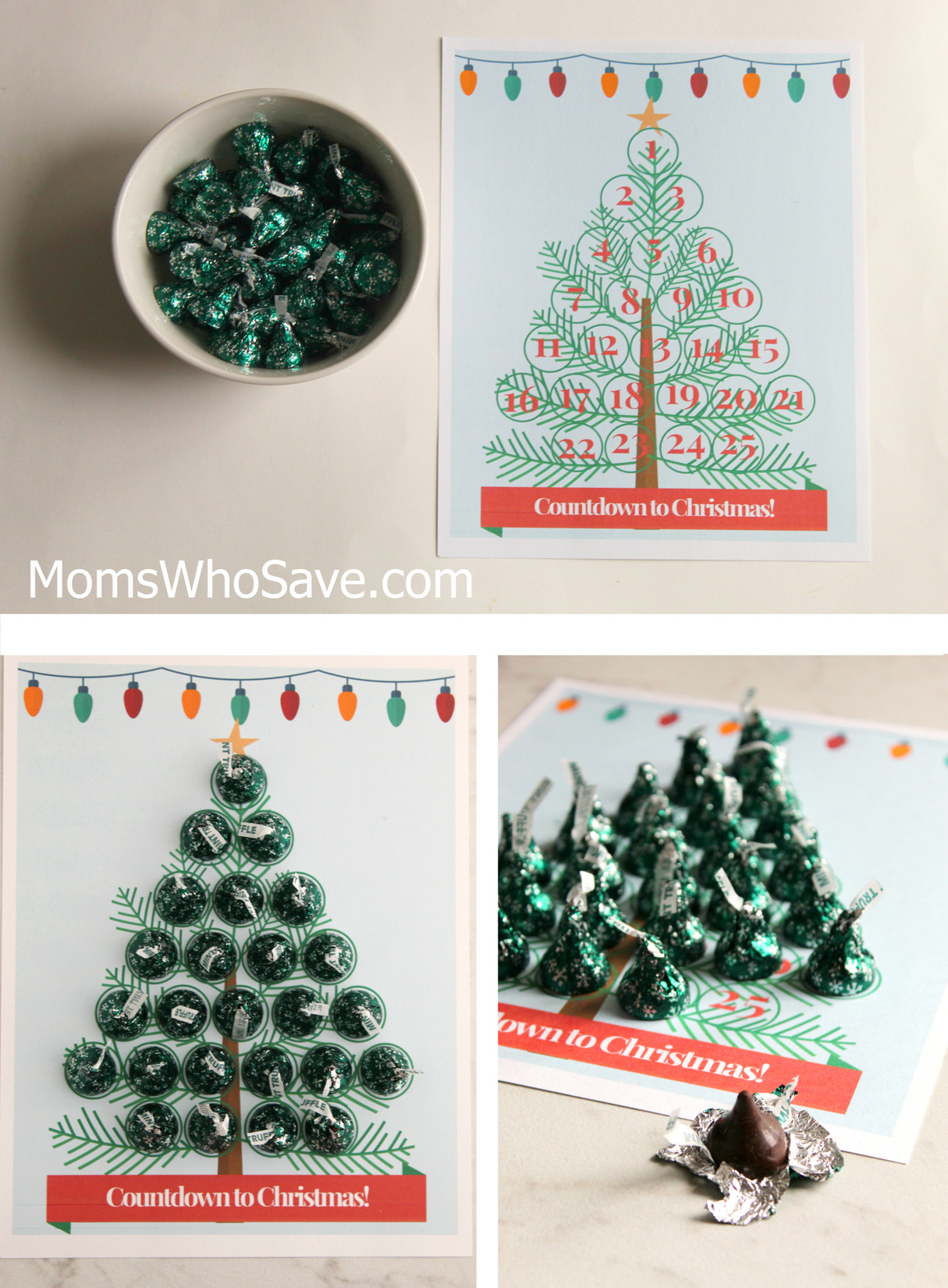 graphic relating to Printable Christmas Tree named Countdown in the direction of Xmas No cost Printable -- Xmas Tree