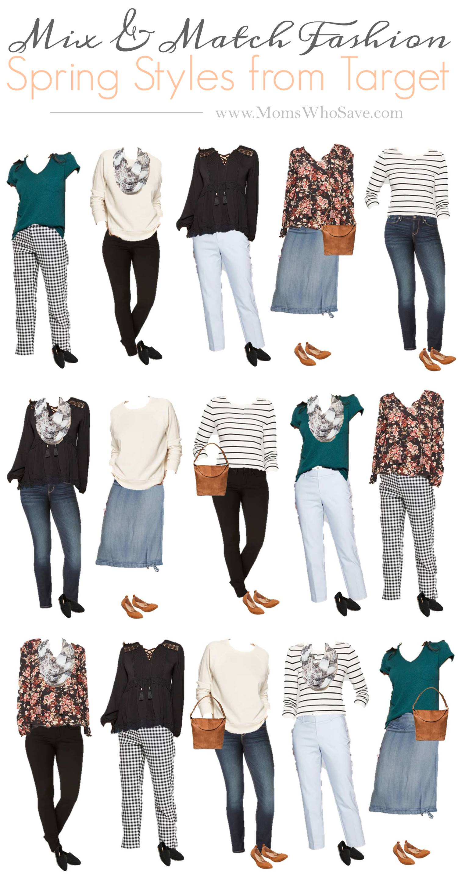 Mix & Match Fashion -- An Affordable Spring Capsule Wardrobe