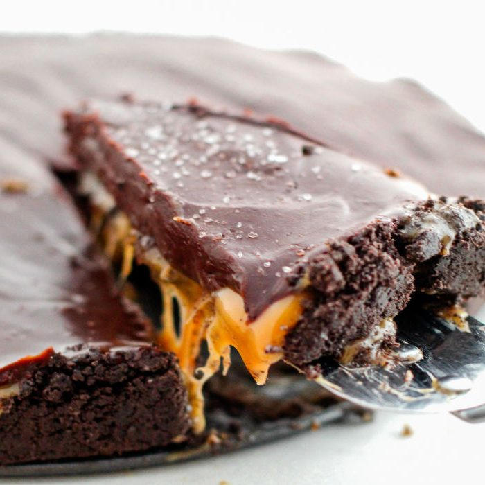 No Bake Salted Caramel Chocolate Pie
