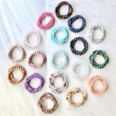 Gemstone & Wood Stacking Bracelets Just $7.99