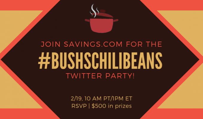 Join Us For the #BUSHSChiliBeans Twitter Party February 19th