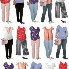 Plus-Size Capsule Wardrobe for Spring