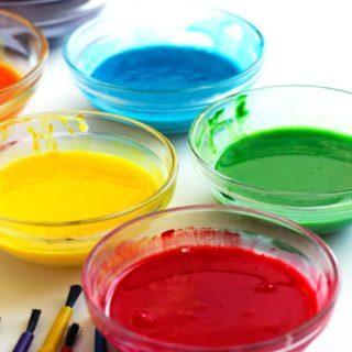 Easy DIY Taste-Safe Paint / Finger Paint