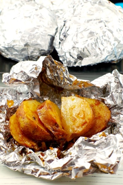 3 Ingredient Onion Baked Potatoes in Foil