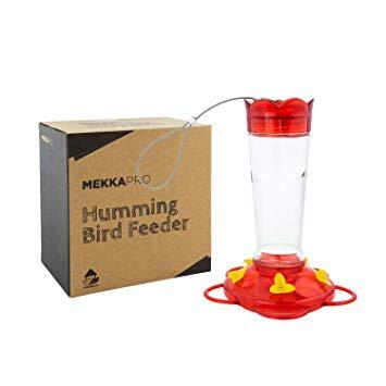 10 Oz. Outdoor Glass Hummingbird Feeder, Five Nectar Feeding Stations