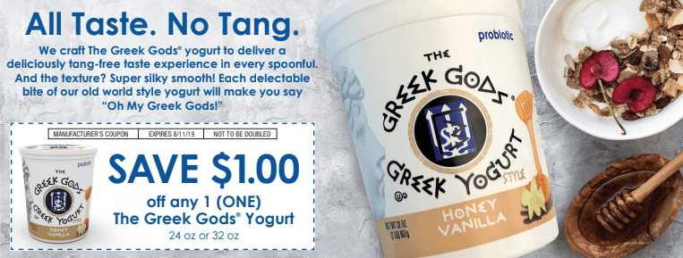 Greek Gods yogurt Valpak coupon