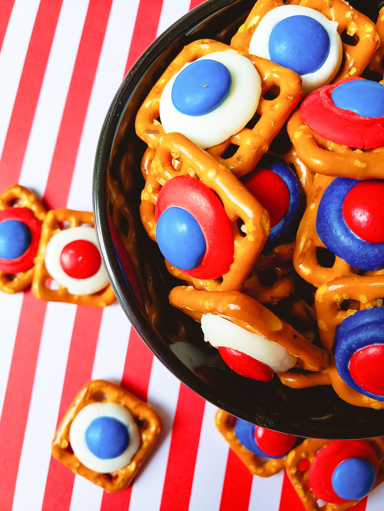 red white blue snacks