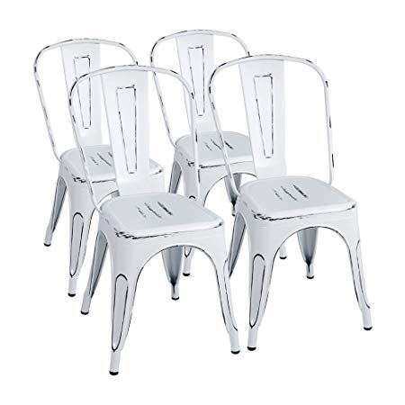 Distressed Metal Chairs -- Indoor/Outdoor Use