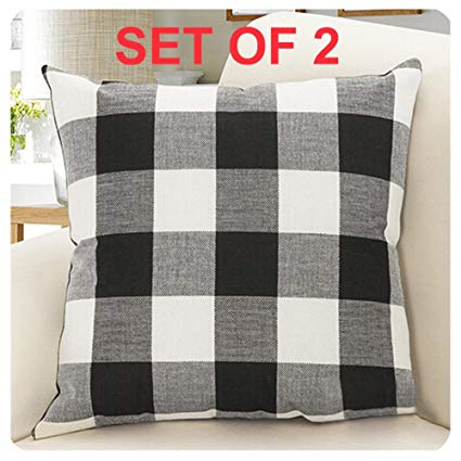 Buffalo Checked Decorative Throw Pillow Covers, Set of 2