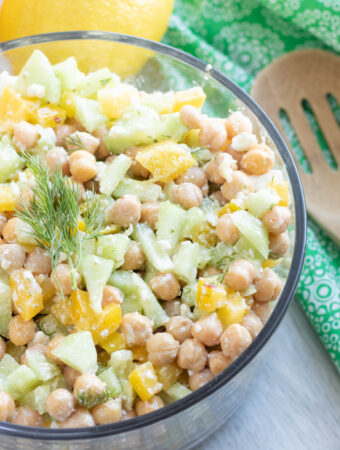 Cucumber Chickpea Salad