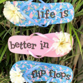 DIY Summer Flip Flop Sign