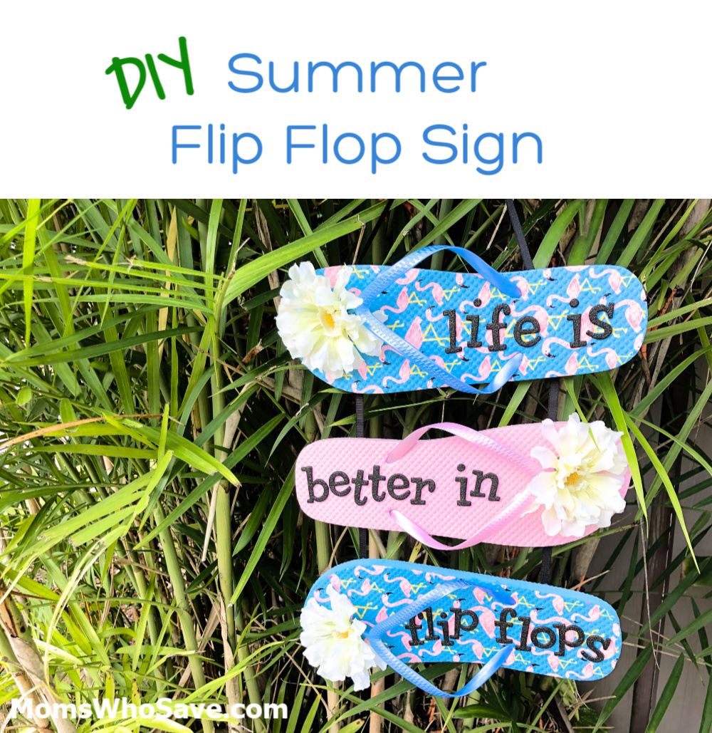 summer flip flop craft