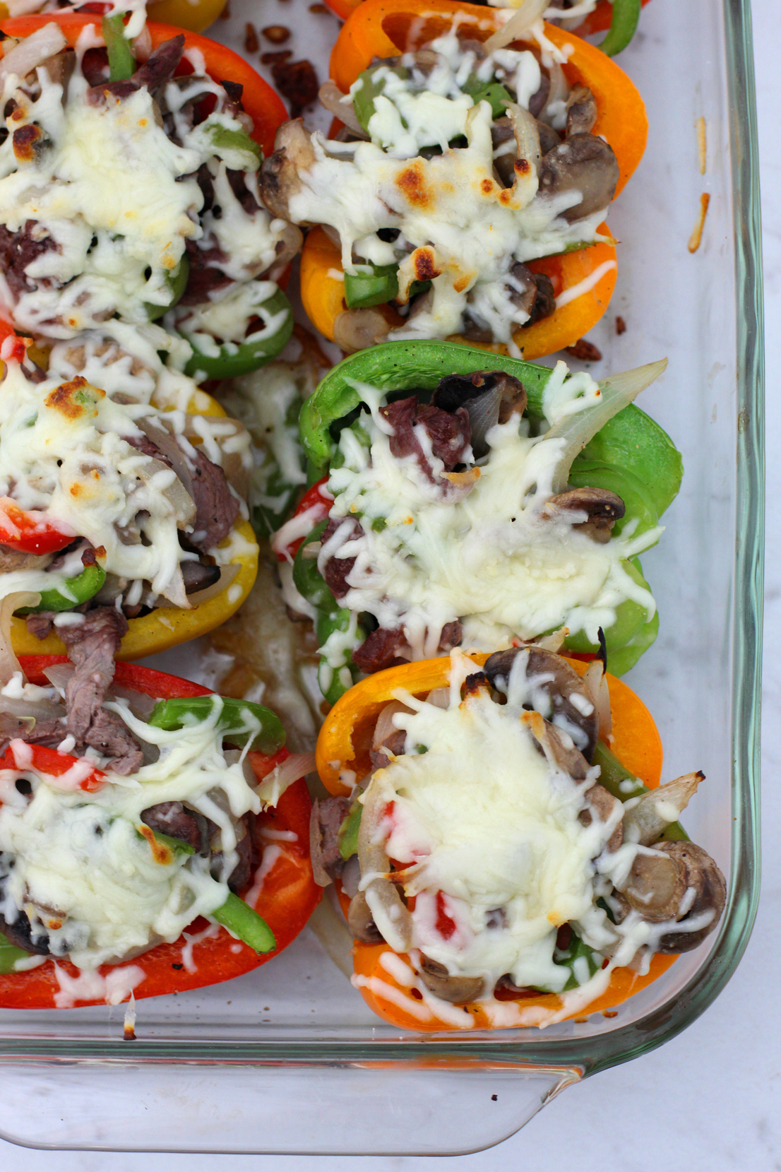 keto stuffed pepper cheesesteak recipe