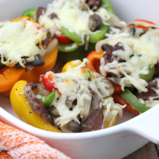Philly Cheesesteak Stuffed Peppers (Keto-Friendly and Gluten-Free)