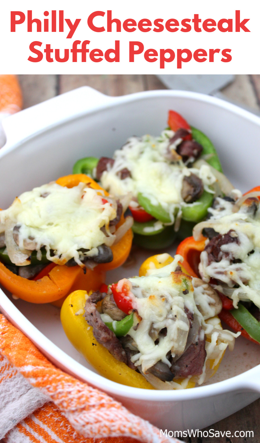 philly cheesesteak stuffed peppers recipe