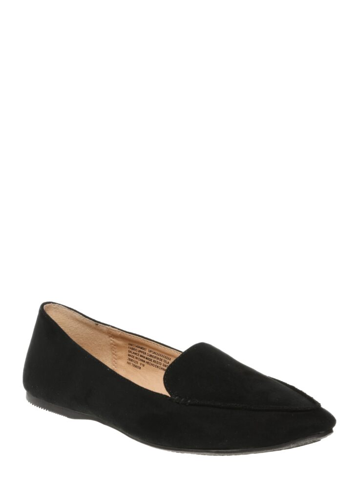 Women's Time And Tru Black Pointed Toe Flats