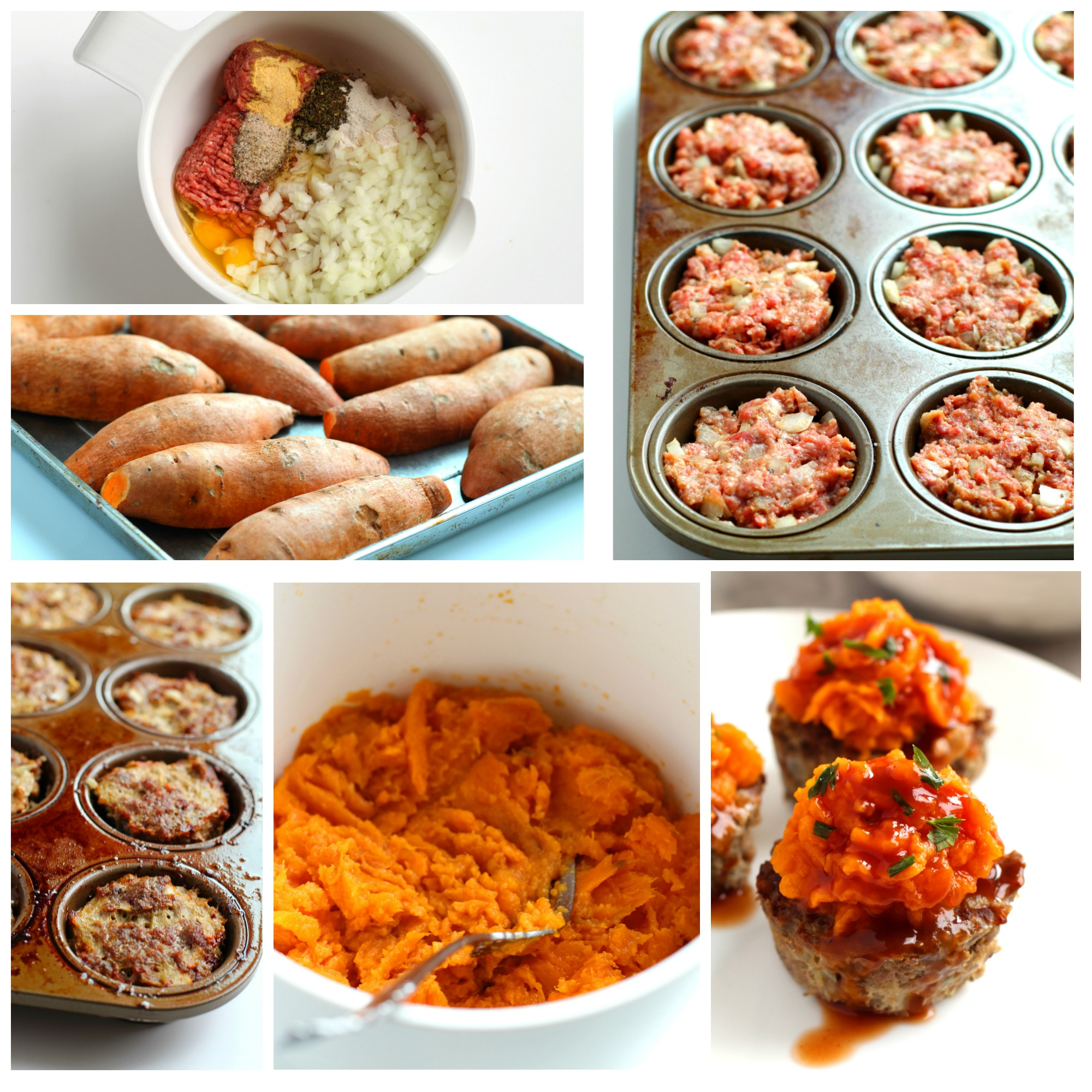 sweet potatoes meatloaf muffins