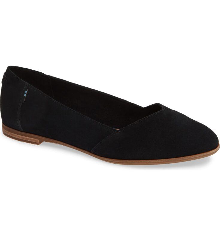 TOMS Julie Almond Toe Flat