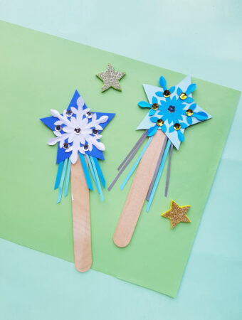 make a princess elsa wand