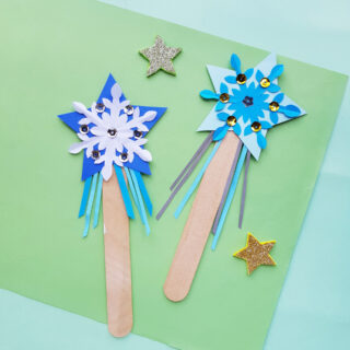 Frozen-Inspired Elsa Princess Wands — Paper Craft for Kids