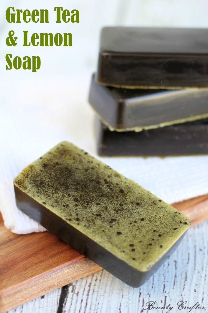 Lemon and Green Tea Soap Recipe