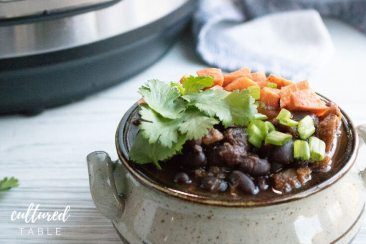 I Can't Believe it's Vegan Sweet Potato Black Bean Chili