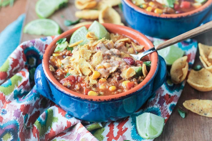 Meatless Taco Chili