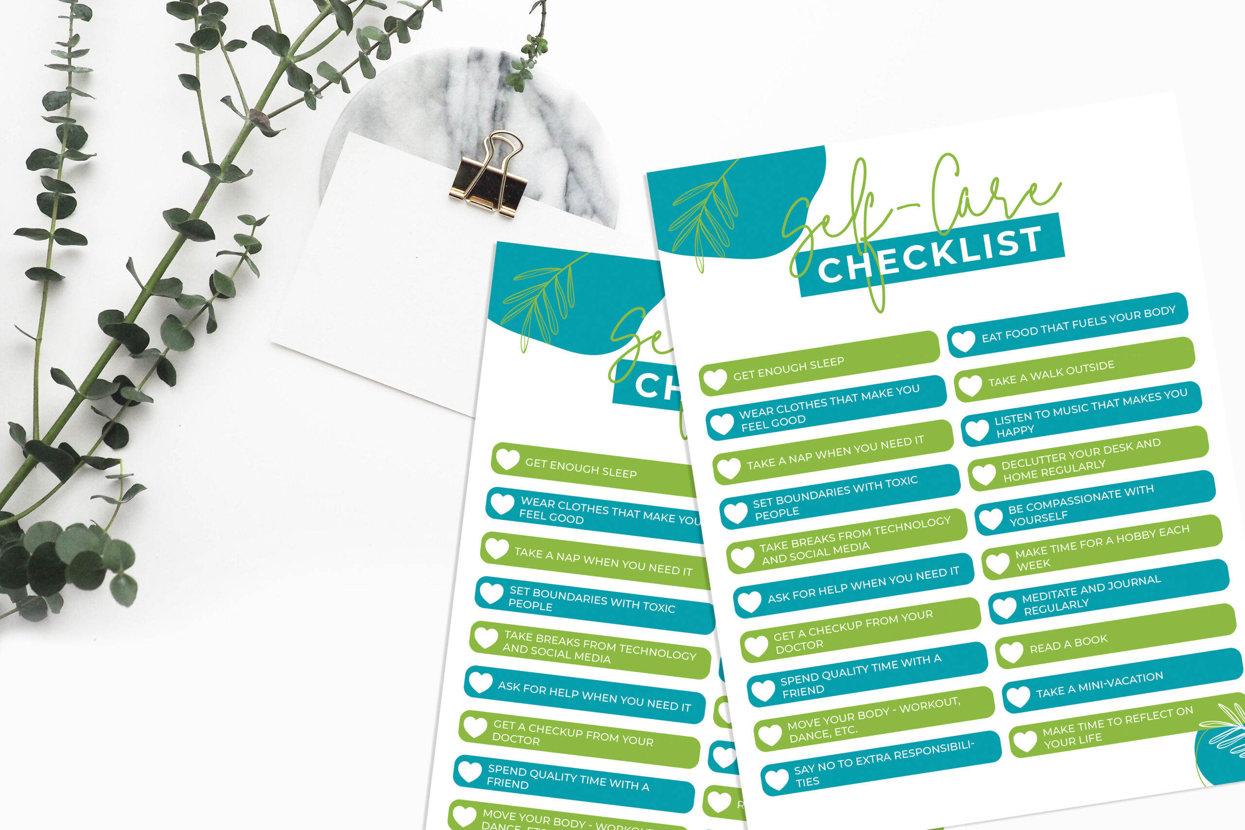 Self-Care Checklist Printable (FREE) | MomsWhoSave.com #wellness #health #selfcare #printables #free