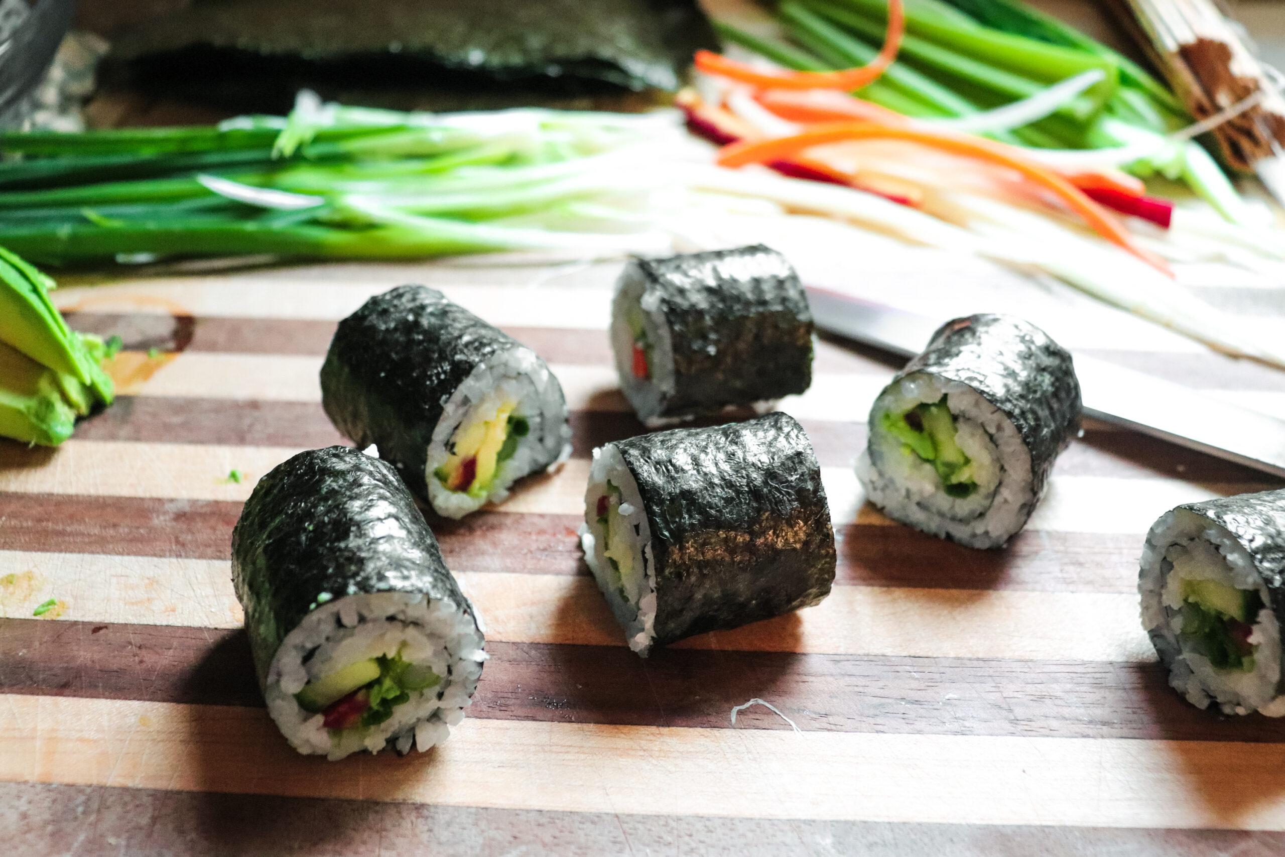 vegetarian sushi bites