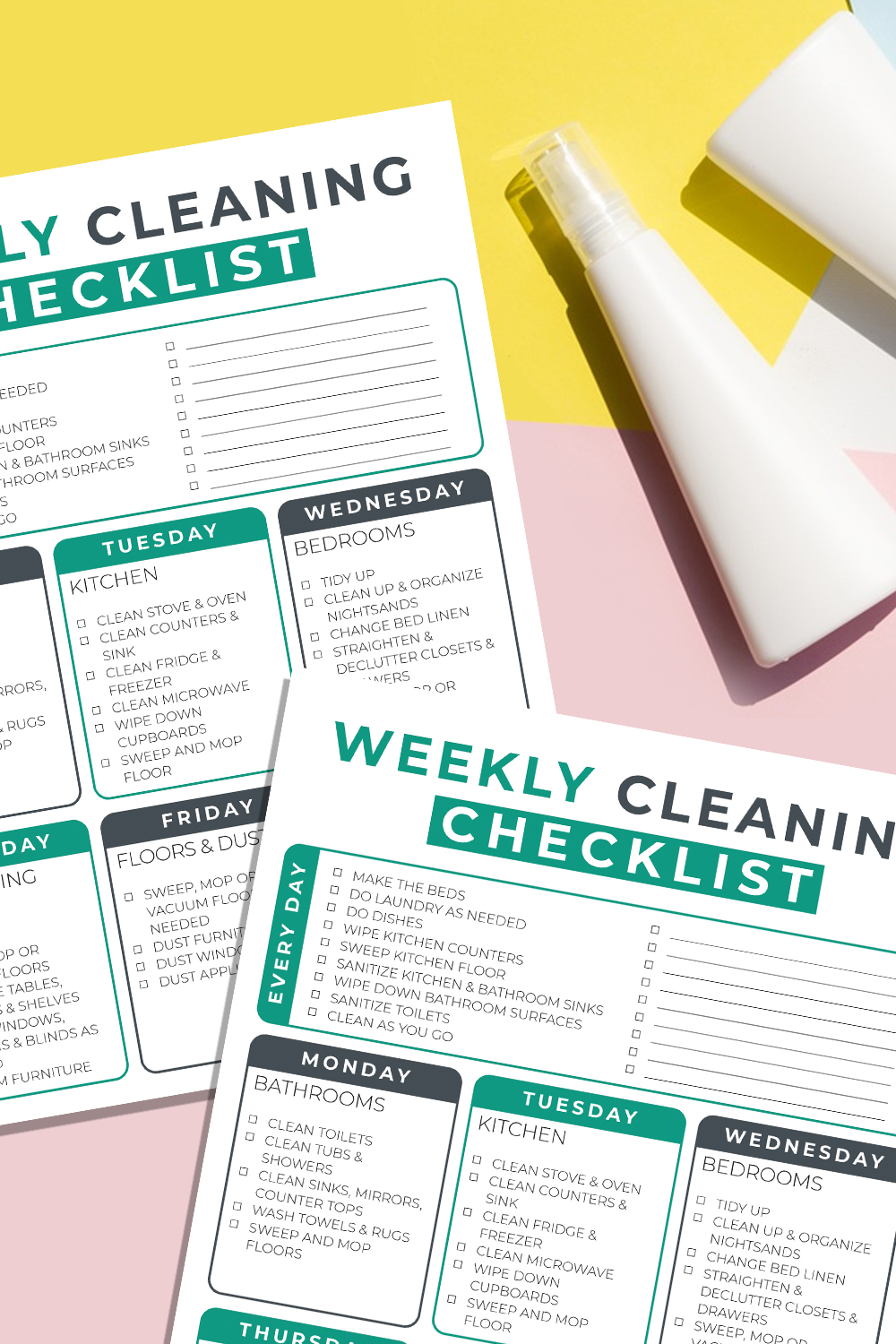 Print Your Basic Cleaning Checklist (and Why You Need One) | MomsWhoSave.com