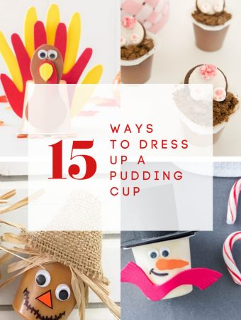 pudding cup holiday craft