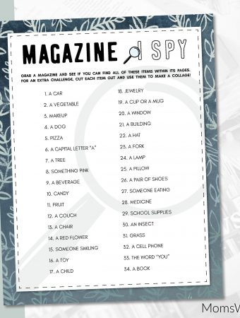 I SPY Game Printable