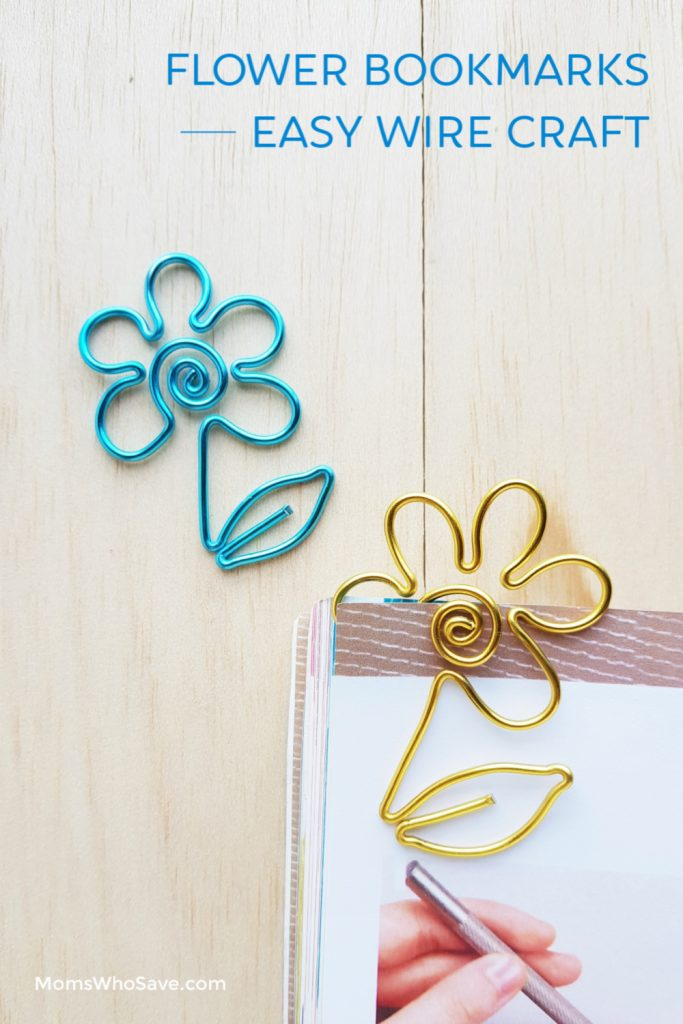 wire flower bookmarks