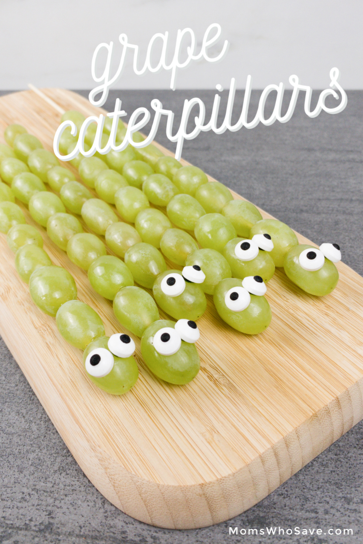grape caterpillar kebobs