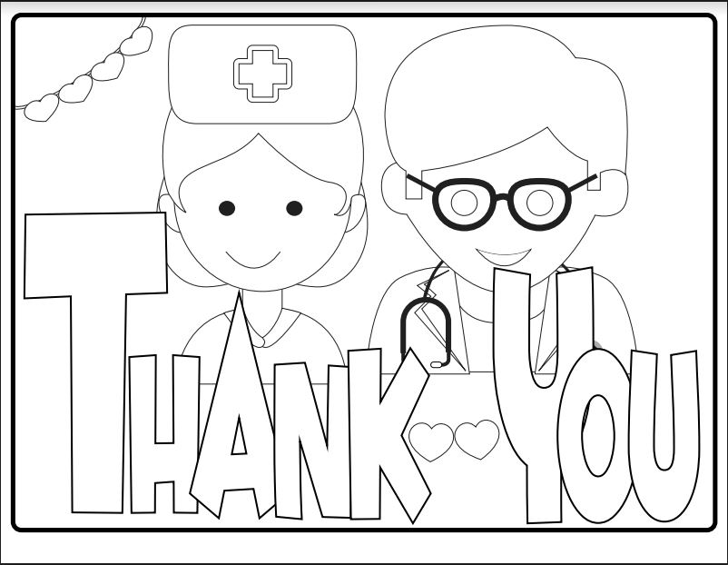 - Free Kids' Coloring Page — Thank You Health Care Workers! MomsWhoSave.com