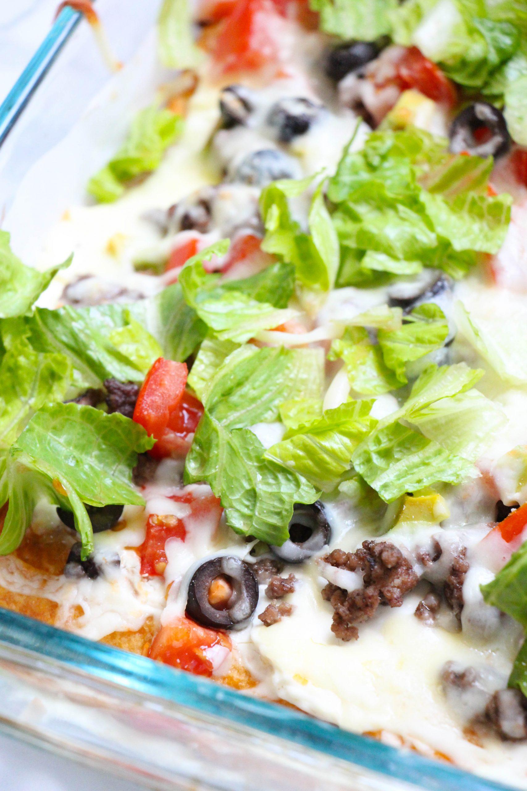 taco pizza recipe with crescent rolls