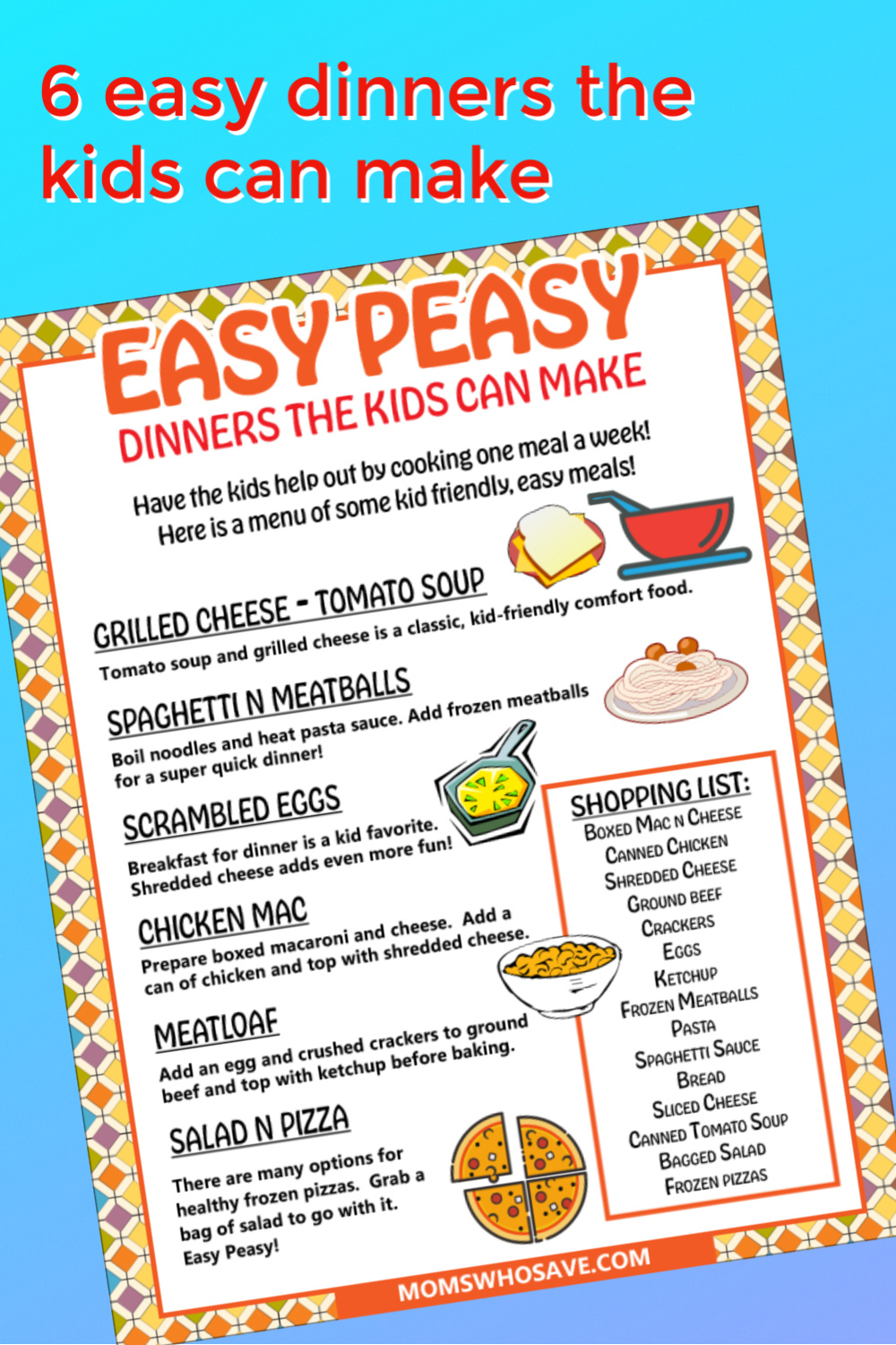 easy meals for kids to cook