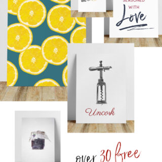 Kitchen Wall Prints — Over 30 Free Printables!