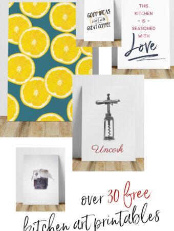 kitchen wall prints