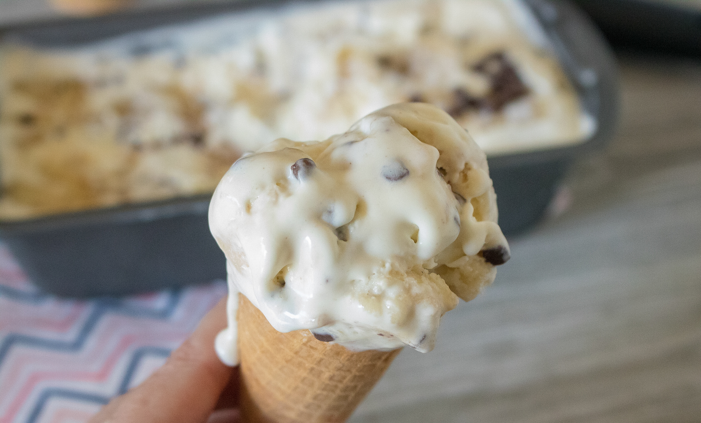 homemade banana chocolate chip ice cream