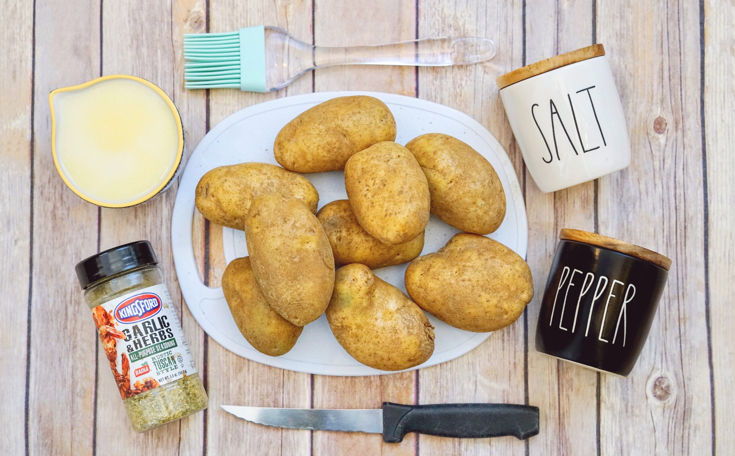 garlic herb sheet pan potatoes