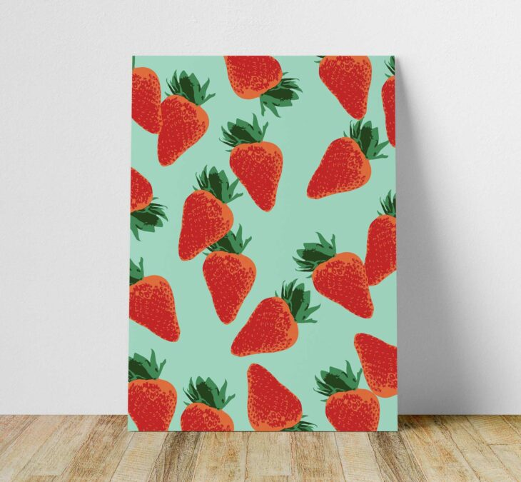 strawberry kitchen printable