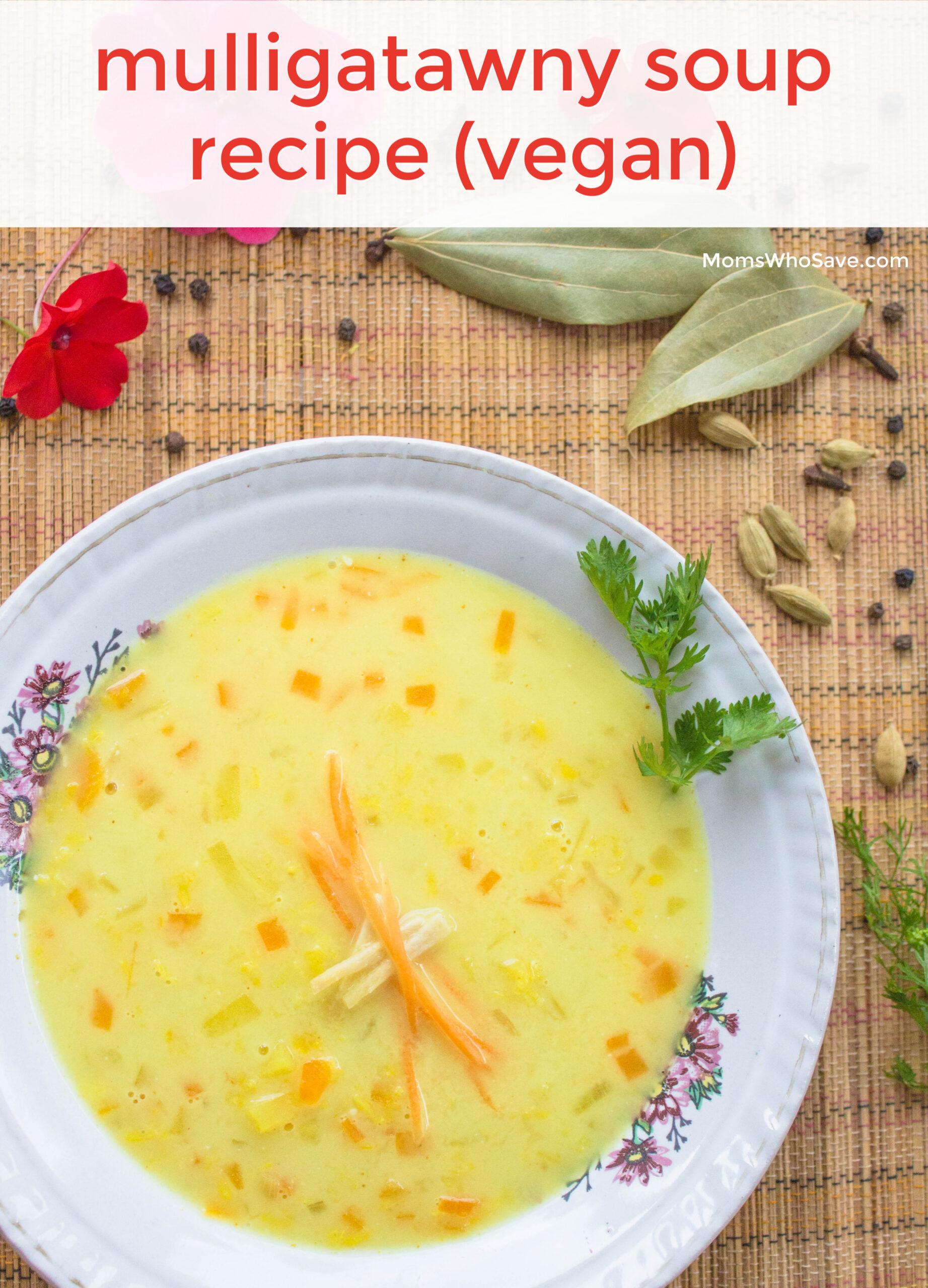 Mulligatawny soup vegan