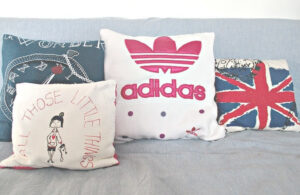 pillows made from t-shirts