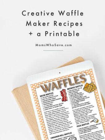 creative waffle recipes