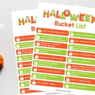 Halloween Bucket List — Free Printable